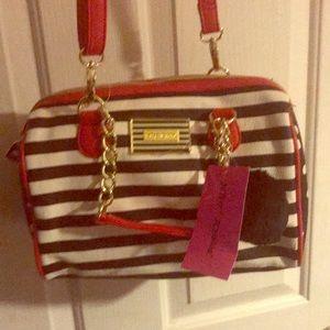 Betsey Johnson purse / bag red white black cute!